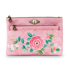 Pip Studio Kosmetiktasche Combi - Floral Pink