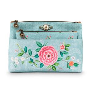 Pip Studio Kosmetiktasche Combi - Floral Blue