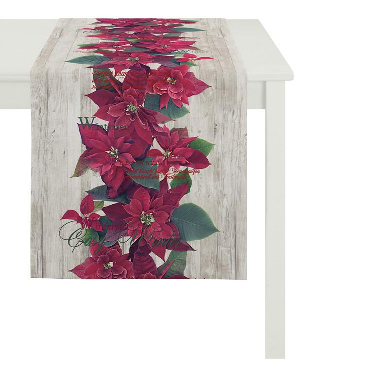 Apelt CHRISTMAS Tischläufer, 40 x 140 cm, rot/natur