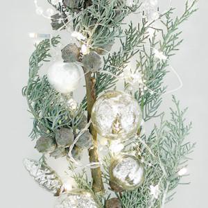 Apelt CHRISTMAS Kissenhülle, 46 x 46 cm, grün/grau – Bild 2