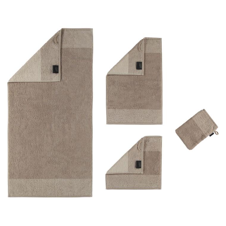 Cawö Two Tone Waschhandschuh Gästetuch Handtuch Duschtuch, Fb. 33 sand