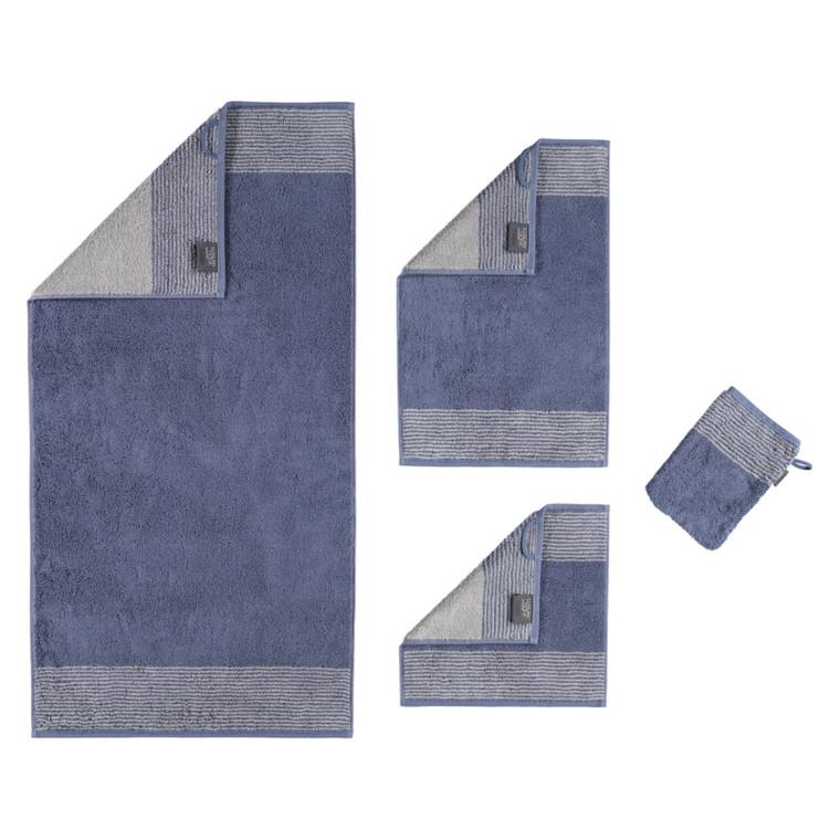 Cawö Two Tone Waschhandschuh Gästetuch Handtuch Duschtuch, Fb. 10 nachtblau