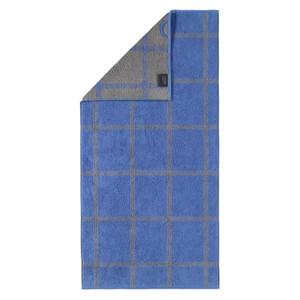 Cawö Two Tone Grafic Handtuch Duschtuch, Fb. 17 blau