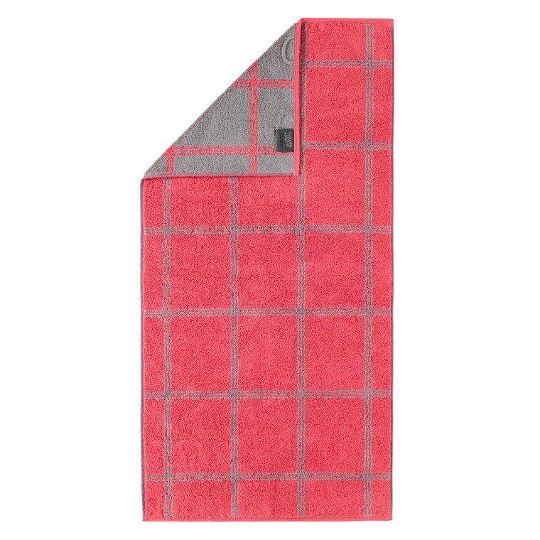 Cawö Two Tone Grafic Handtuch Duschtuch, Fb. 27 rot