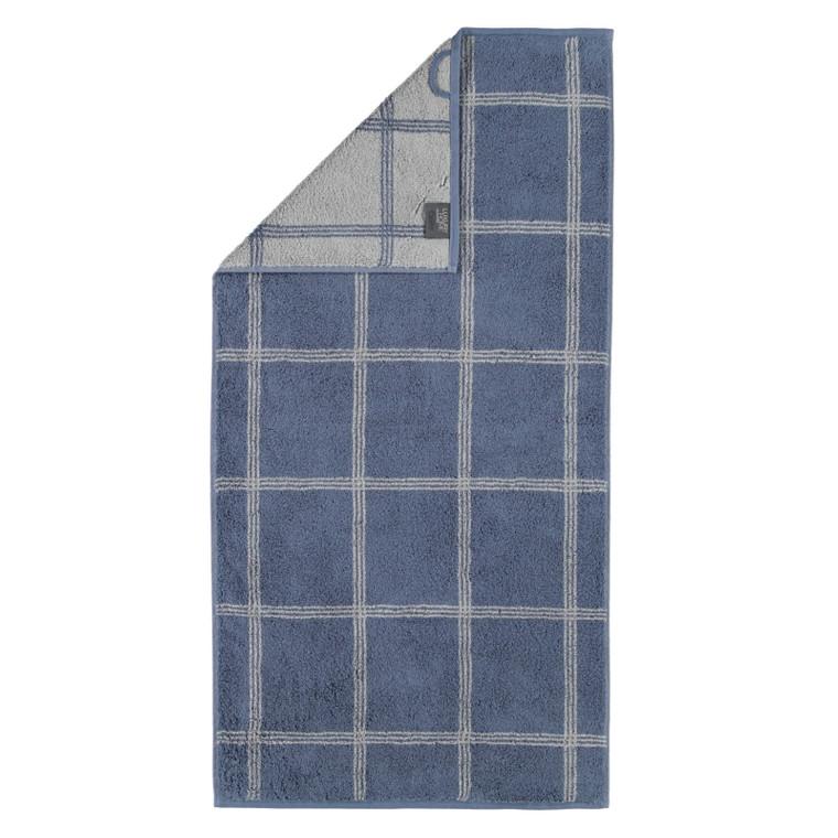 Cawö Two Tone Grafic Handtuch Duschtuch, Fb. 10 nachtblau