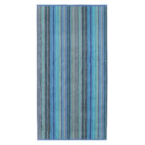 Cawö Two Tone Multistripe Handtuch Duschtuch, Fb. 14 blau
