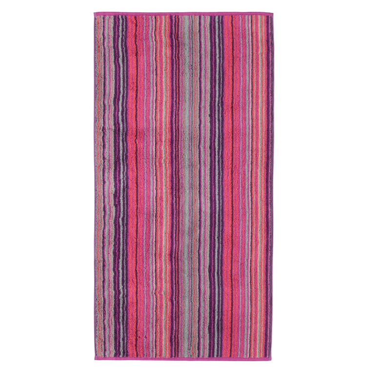 Cawö Two Tone Multistripe Handtuch Duschtuch, Fb. 82 beere