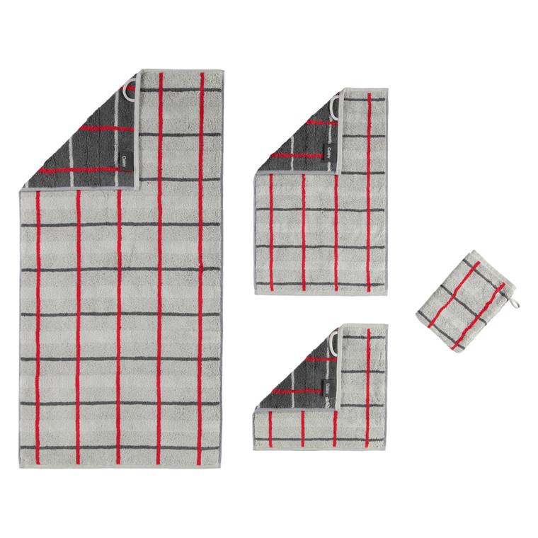 Cawö SQUARE Waschhandschuh Gästetuch Handtuch Duschtuch, Fb. 72 platin