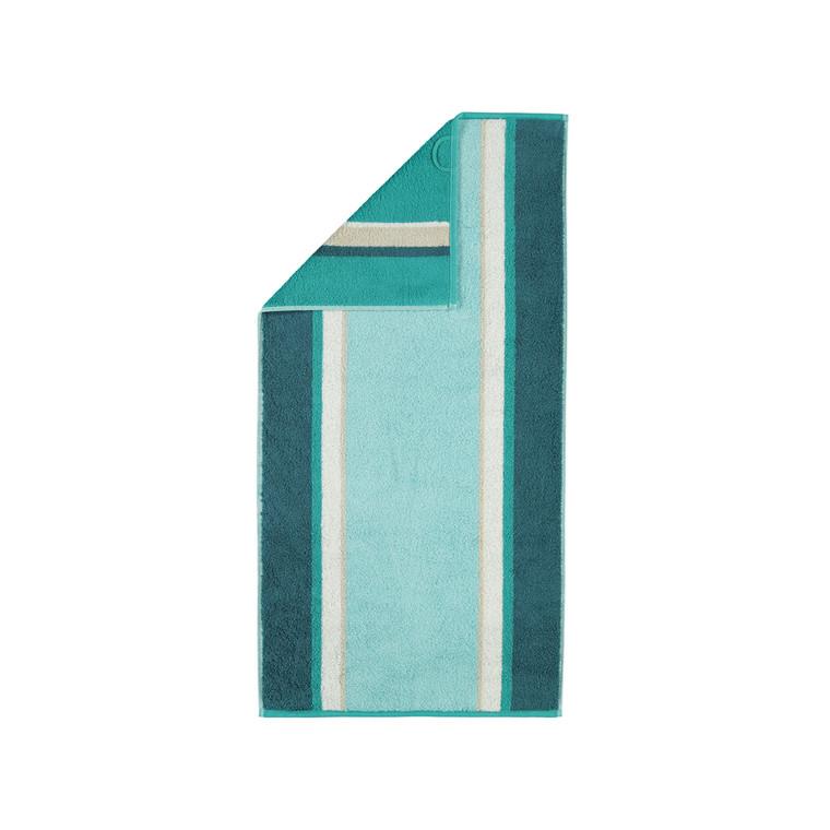 Cawö RIVA STRIPES Handtuch Duschtuch, Fb. 44 grün