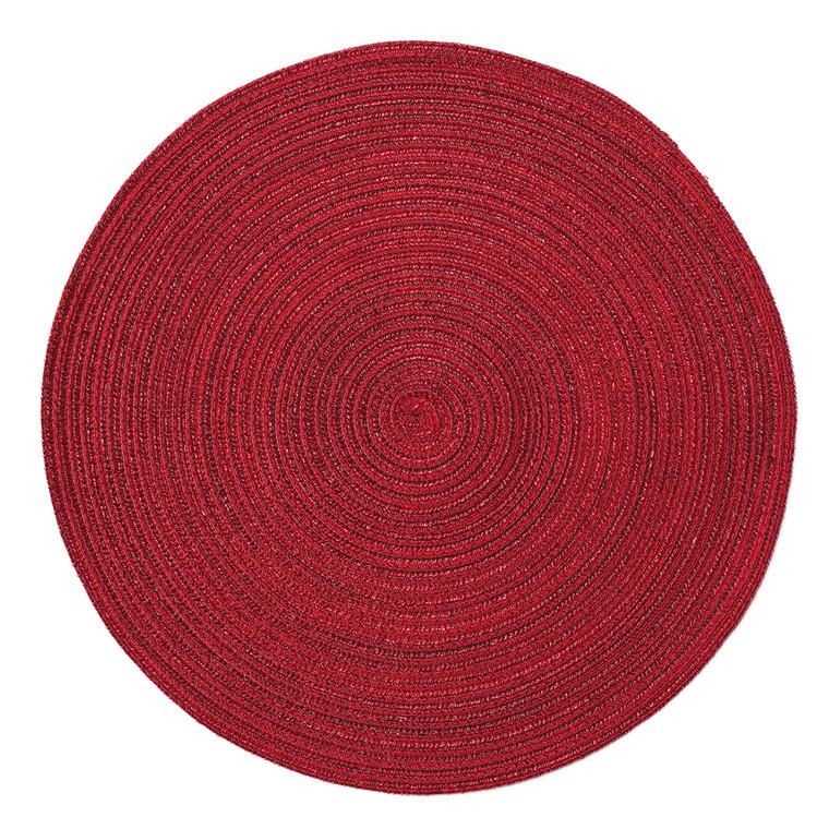 Pichler Tischset SAMBA, rund 38 cm, bordeaux
