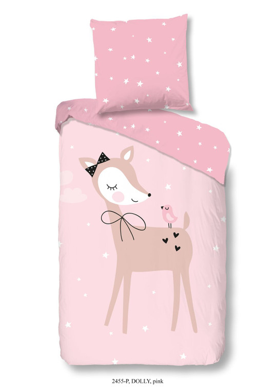 Good Morning Baby- und Kinderbettwäsche DOLLY, 100% Baumwolle, rosa
