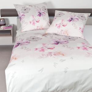 Janine Mako-Satin-Bettwäsche MODERN ART 42040, rosa/violett – Bild 2