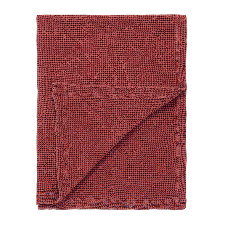 Marc O Polo Plaid VIRON, 130 x 170 cm, soft red