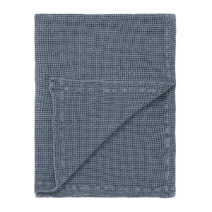 Marc O Polo Plaid VIRON, 130 x 170 cm, blue