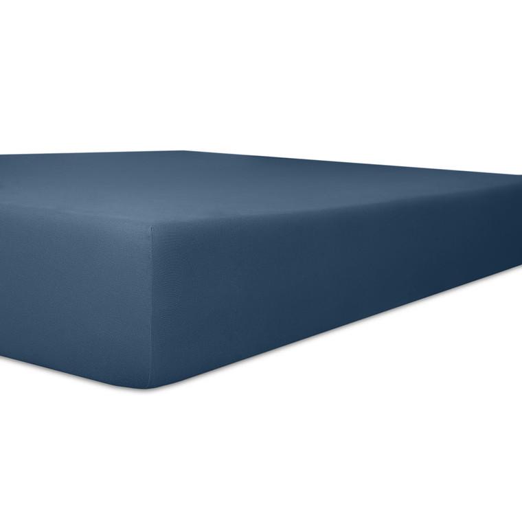 Kneer Spannbettlaken EXCLUSIVE-STRETCH mit Elastan-Anteil und veredelter Oberfläche, marine