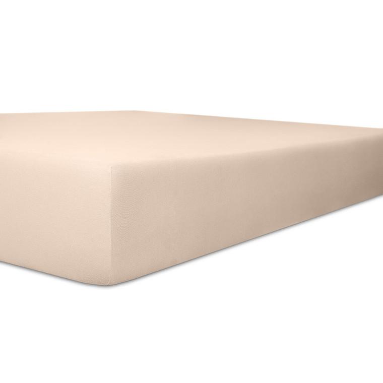 Kneer Spannbettlaken EXCLUSIVE-STRETCH mit Elastan-Anteil und veredelter Oberfläche, zartrose