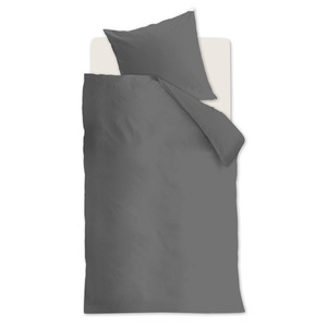 Beddinghouse Bettwäsche Basic, 100% Baumwolle, grey, 200 x 220 cm