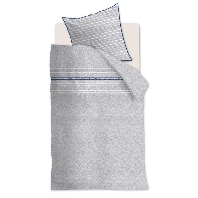 Riviera Maison Baumwoll-Bettwäsche BARTONS CREEK, grey, Übergröße