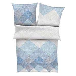 s.Oliver Mako-Satin-Bettwäsche 5911-600, blau/weiß