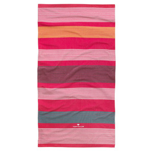 Tom Tailor Velour Strandtuch, 85 x 160 cm, rot/multi