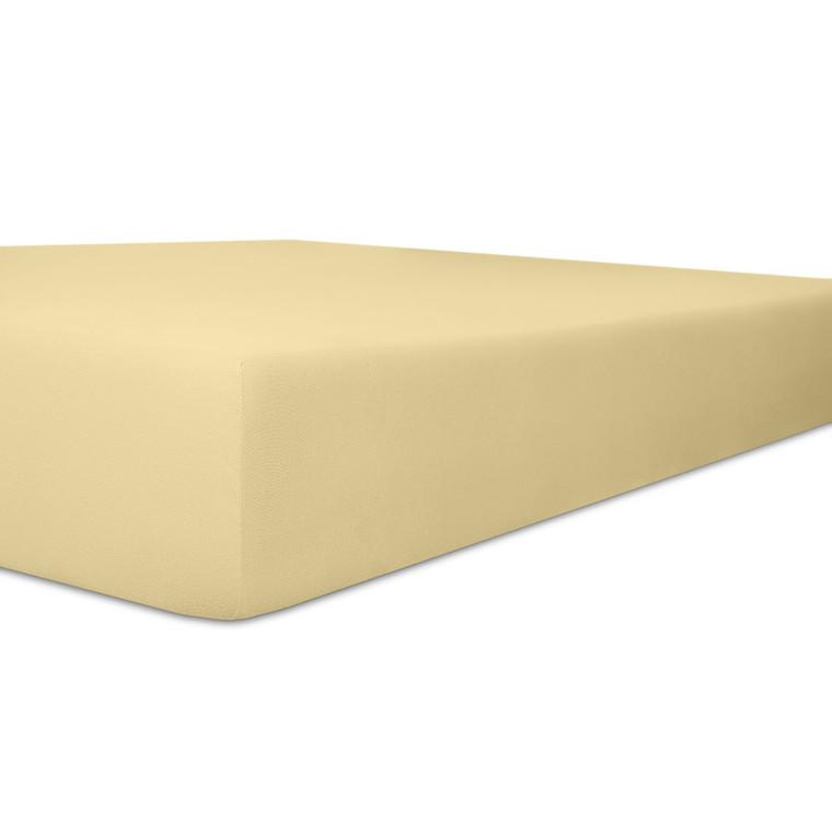 Kneer Spannbettlaken EXCLUSIVE-STRETCH mit Elastan-Anteil und veredelter Oberfläche, kiesel