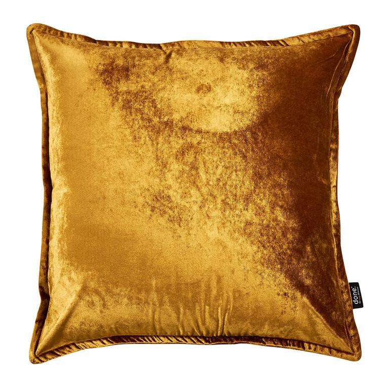 Done Samt-Kissenhülle Glam, 65 x 65 cm, gold
