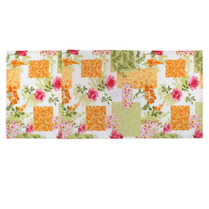 Living Dreams Tischset Tischläufer Mitteldecke FLOWER PATCH, orange/multi