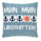 Pad Kissenhülle MOIN MOIN, 40 x 40 cm, blue 001