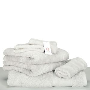 Living Dreams Waschhandschuh Gästetuch Handtuch Duschtuch LUXUS, Baumwolle 600g, uni silber