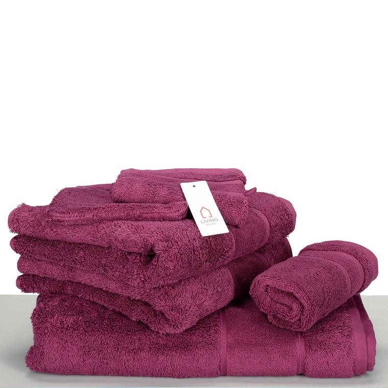 Living Dreams Waschhandschuh Gästetuch Handtuch Duschtuch LUXUS, Baumwolle 600g, uni beere