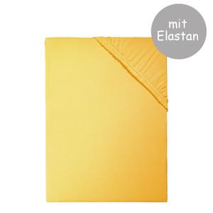 Living Dreams Spannbettlaken PREMIUM mit Elastan-Anteil (165 g/qm) für hohe Matratzen, gelb