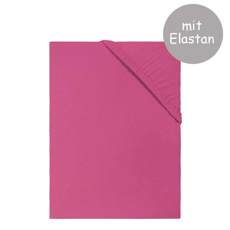 Living Dreams Spannbettlaken PREMIUM mit Elastan-Anteil (165 g/qm) für hohe Matratzen, beere