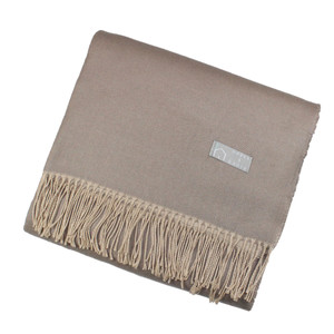 Haven & Earth Plaid Wohndecke AMANDA, taupe-beige