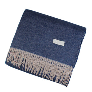 Haven & Earth Plaid Wohndecke AMANDA, navy-taupe