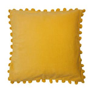 Living Dreams Kissenhülle mit BOMMELN, 45 x 45 cm, gelb