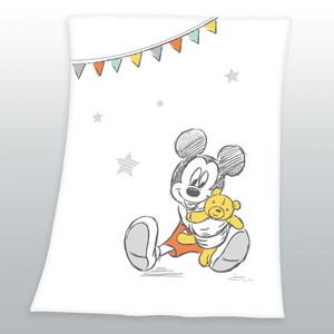 """Herding Kinderdecke """"Mickey Maus"""", 75 x 100 cm, weiß / multi"""
