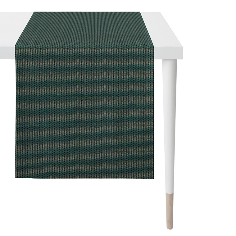 Apelt Tischläufer Serie Loft Style, 48 x 140 cm,  petrol / schwarz / natur