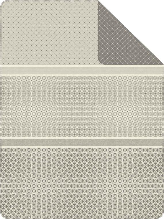 """S. Oliver Jaquard Wohndecke """"Dordrecht"""" 1191-800, 150 x 200, grau/wollweiß"""