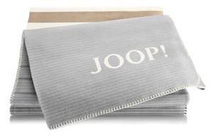 "Joop Wohndecke ""Horizon"", 150 x 200 cm , schiefer-ecru"