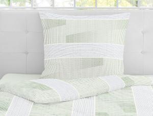 Irisette Seersucker-Bettwäsche CALYPSO 8167-30, grün – Bild 3