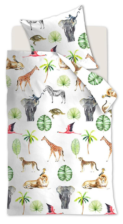 Beddinghouse Renforcé - Kinderbettwäsche Savanna friends, 100% Baumwolle, multi