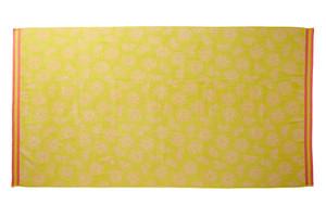 KAAT Amsterdam Velour - Strandtuch Citrus delight, 100 x 180 cm, gelb