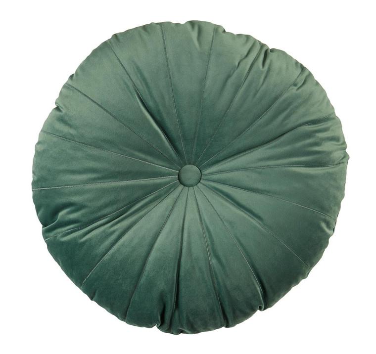 Kaat Dekokissen Mandarin, 40 x 40 cm - rund, gefüllt, grün