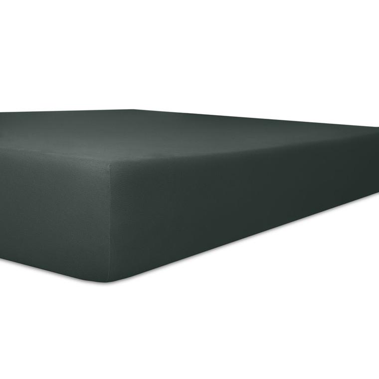 Kneer Spannbettlaken VARIO-STRETCH mit Elastan- und Modal-Anteil, onyx