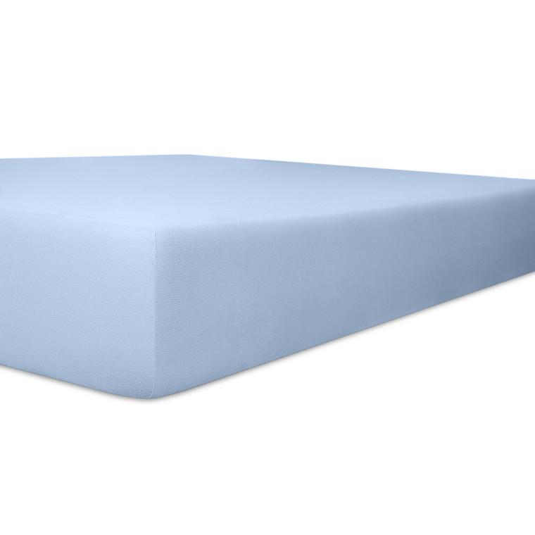 Kneer Spannbettlaken VARIO-STRETCH mit Elastan- und Modal-Anteil, hellblau