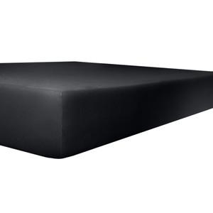 Kneer Spannbettlaken VARIO-STRETCH mit Elastan- und Modal-Anteil, schwarz