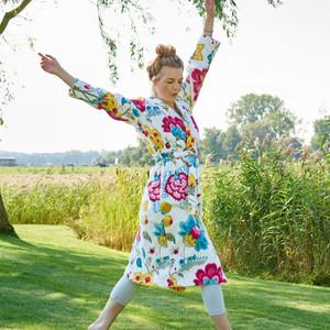 Pip Damen Bademantel Floral Fantasy, XS - XXL, star white – Bild 2