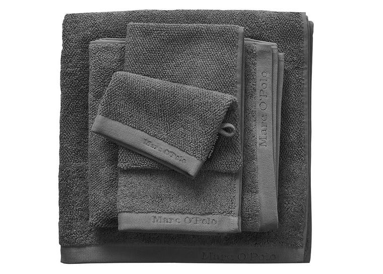Marc O´Polo Timeless Uni Waschhandschuh Gästetuch Handtuch Duschtuch, anthracite
