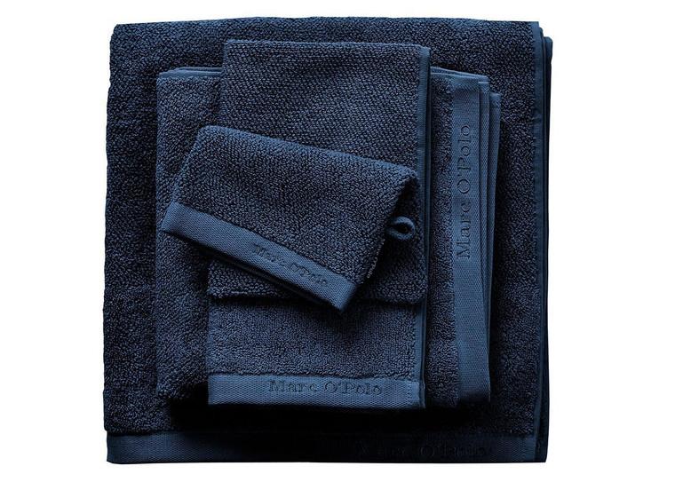 Marc O´Polo Timeless Uni Waschhandschuh Gästetuch Handtuch Duschtuch, marine