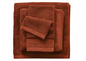 Marc O´Polo Timeless Uni Waschhandschuh Gästetuch Handtuch Duschtuch, burnt orange